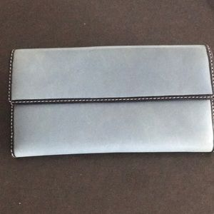 Coach Leather Wallet Blue/Navy Blue